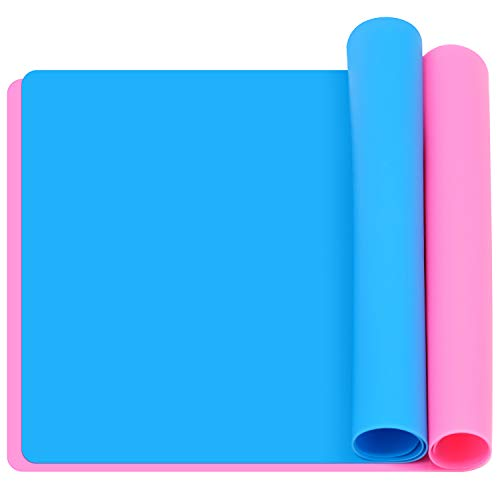 Cisolen Set di 2 tovagliette in silicone, antiaderenti, portatili, pieghevoli, ideali per il fai da te, per armadi, tavoli, cassetti