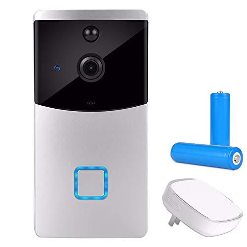HSTD Wireless WiFi Video Doorbell, Smart Doorbell Battery Powered with...