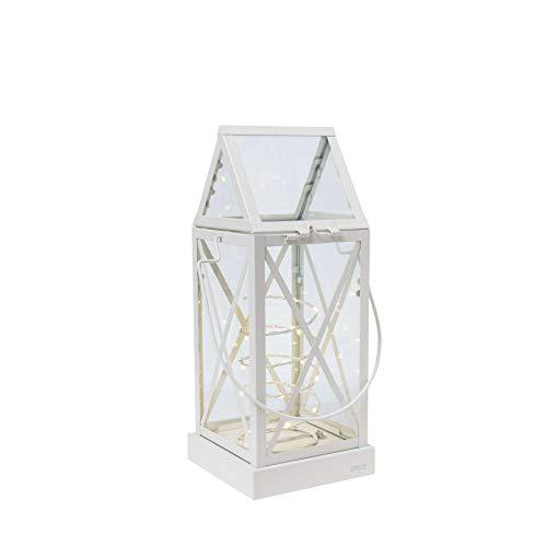 SIRIUS - Lanterne blanc crème avec guirlande lumineuse 20 LED sirius aske