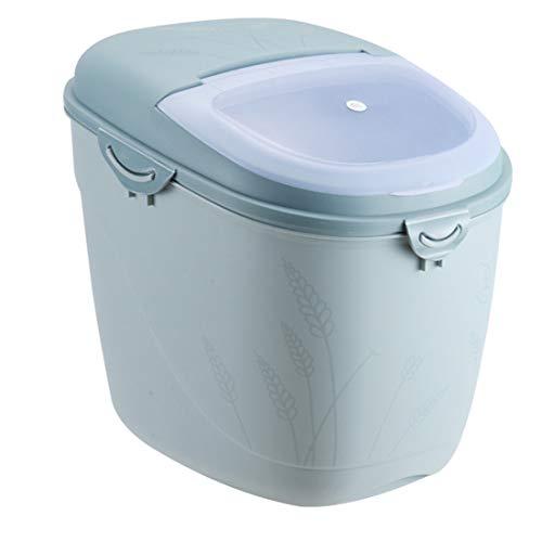 Dittzz 15KG Reis Box Reis Vorratsbehälter Küche Getreide Aufbewahrungsboxen Siegel Getreidelagerbehälter mit Messbecher für Reiskorn-Korn Küche Getreide Lebensmittel, 30x21.5x33cm