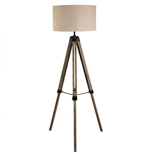 TRIPOD LAMPADA DA TERRA nero / marrone LEGNO