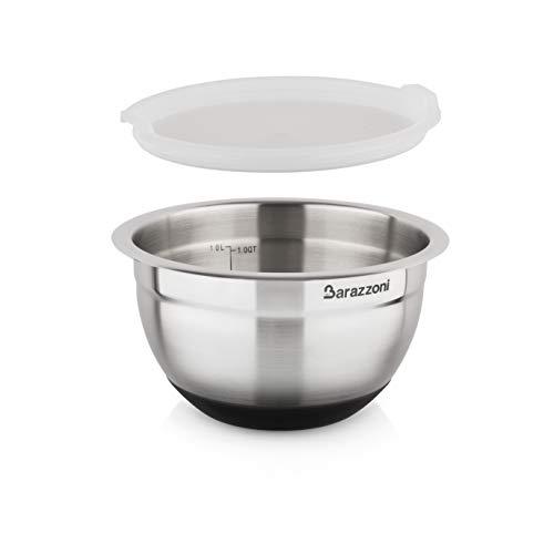 Barazzoni Bowl Acciaio Inox 18/10 ø16cm x H 9,6cm C/Cop, 18/10-Silicone, ø 16cm