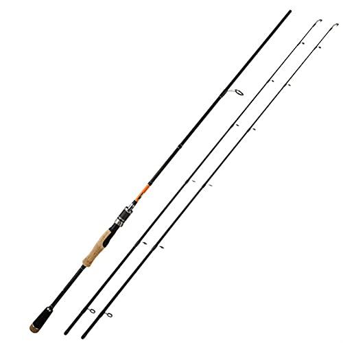 Pesca Rod Pole de Pesca de caña de Pescar portátil Ultraligero Adecuado para Principiantes de la Carpa Crucian Fishing Get Regalo para Padre telescópico caña de Pescar (Color : A, Size : 2.1M)