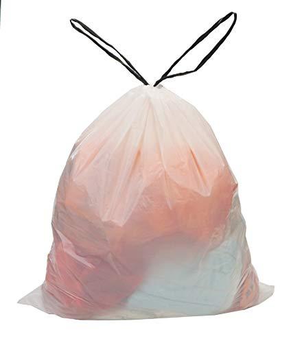 Besli 5-6 Gallon Drawstring Strong Trash Bag Garbage Bag (5-6 Gallon(90 Bags), White)