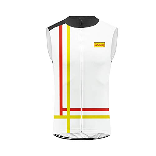 Uglyfrog Chaleco MTB Ciclismo sin Mangas Respirable del Chaleco del Viento del Mens para la Bicicleta Racing Team Wear ESH19VS04