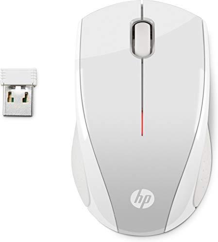 HP - Ratón (Ambidextro, Óptico, RF inalámbrico, 1200 dpi, Plata)