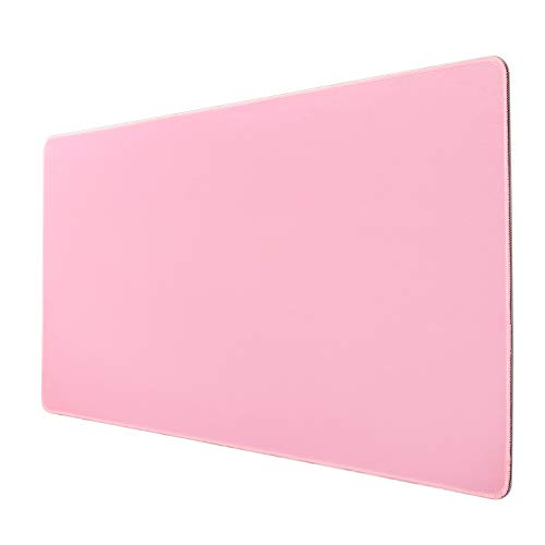 Kusma Pink Gaming Mouse pad, (31.5x15.7 in), Large Mouse Pad XL, Large Non-Slip Rubber Base Mousepad with Stitched Edges, Keyboard Mouse Mat Desk Pad for Work, Game, Office, Home –Pink