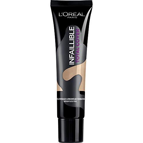L Oréal Paris Infaillible Total Cover Fondotinta Copertura Totale a Lunga Durata, 22 Radiant Beige