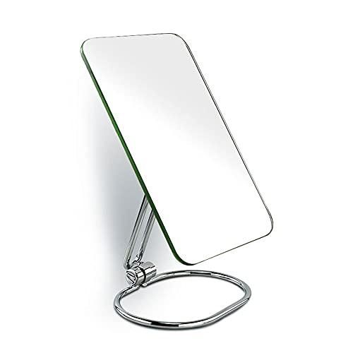 CZFSKCZ Specchio per Il Trucco per vanità Bamboo Flessibile di vanità, Rotazione a 360° 8' Specchio per la scrivania per scrivania, Facile da smontare a Specchio a vanità Frameless,