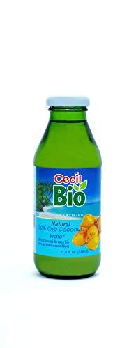 Cecil Bio Lot de 4bouteilles d'eau de noix de coco Thembili naturel, 350ml