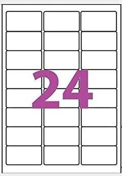 100 A4 de hoja de etiqueta de papel etiqueta adhesiva 24 63,5 x 33,9 mm para las impresoras de chorro de tinta y láser