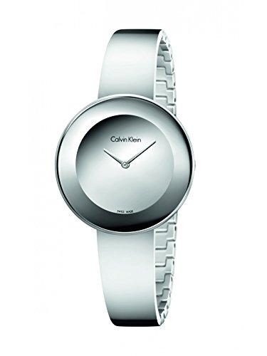 Calvin Klein Damen Analog Quarz Uhr mit Edelstahl Armband K7N23U48