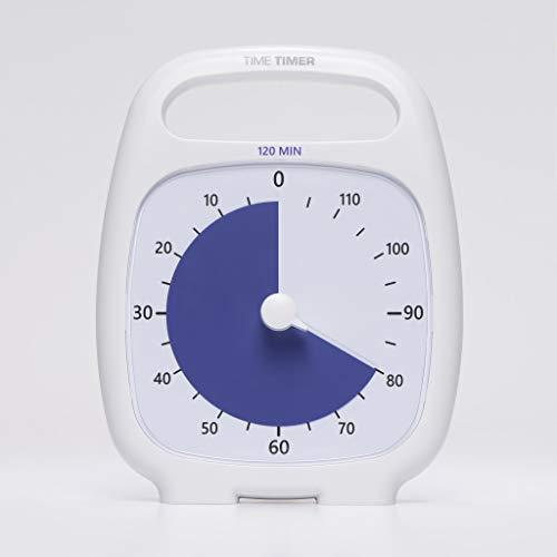 タイムタイマー プラス 120 (ホワイト) アラーム 取っ手付き Time Timer PLUS 120 (White) TT120-W