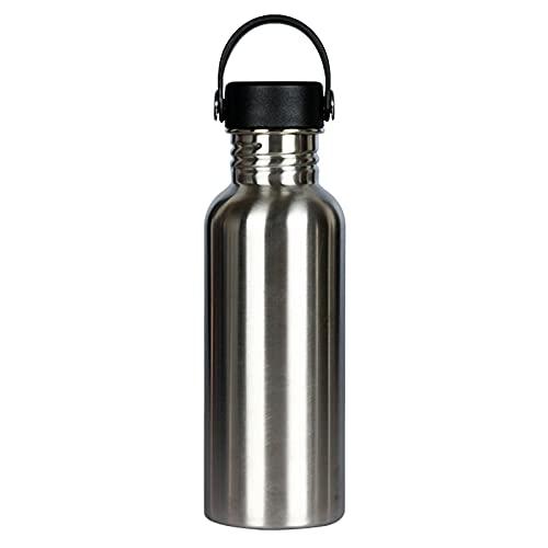 mingtian Botella de Agua de Acero Inoxidable 304 de 600 ML, Botella de Bicicleta Deportiva portátil para Gimnasio, Tapa de bambú, matraz frío, Taza a Prueba de Fugas de Viaje 3