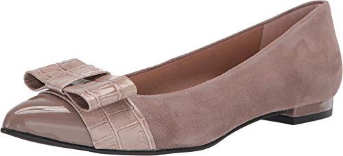 French Sole Onstage Taupe Suede/Croco 6.5 M