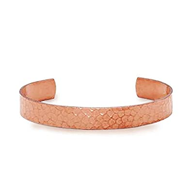 Antimicrobial Pure Uncoated Copper Therapy Bracelet for Women; Naturally Eliminate Germs Without Harsh Chemicals; Trace Mineral, Natural Relief of Arthritis, Joint Pain, Carpal Tunnel; Hammered, 10mm