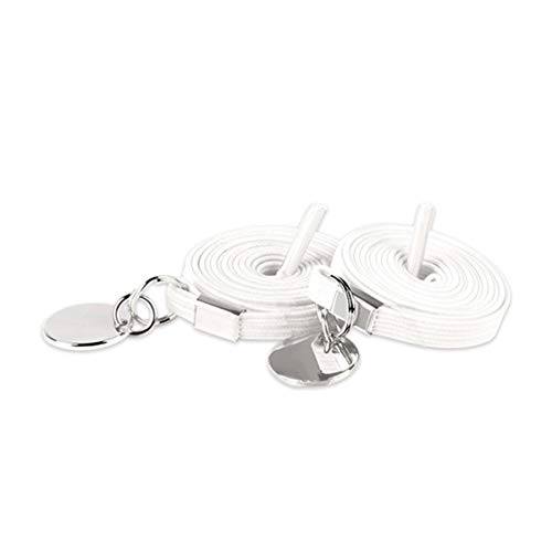17 kleuren Geen veters strikken Elastic Locking Buckle Schoenveters Sneakers Quick schoenveter, White