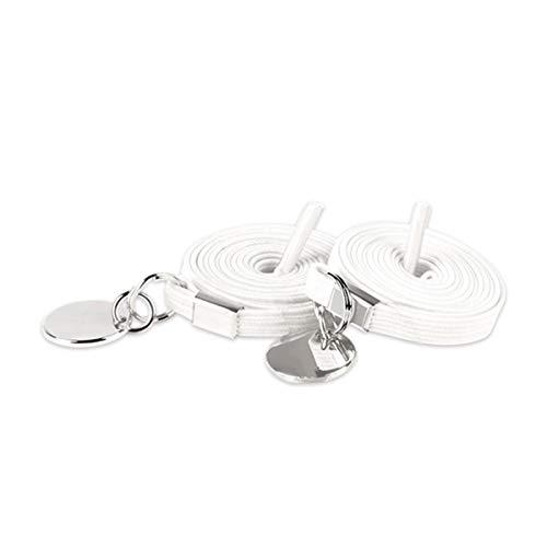 17 kleuren Geen veters strikken Elastic Locking Buckle Schoenveters Sneakers Quick schoenveter, White