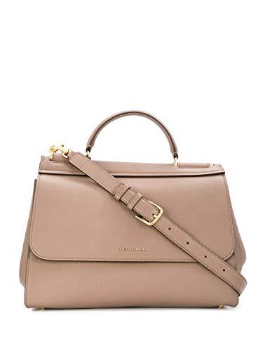 DOLCE E GABBANA Luxury Fashion Damen BB6743AA40987148 Grau Leder Handtaschen | Jahreszeit Permanent