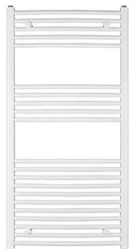 anapont Badheizkörper, Heizkörper, Weiss, gebogen, hochwertig, in verschiedenen Größen erhältlich, Handtuchhalter, Handtuchtrockner (1175h x 500b)