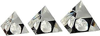 طقم اكسسوارات 3 أهرامات مع قاعدة توت من كريستال عصفور 52/654 - شفاف