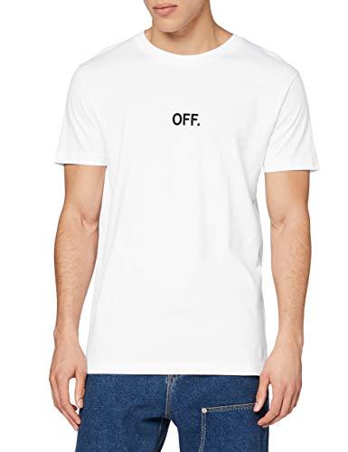 Mister Tee Herren Off EMB Tee T-Shirt, White, XS