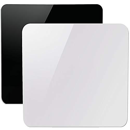 ZOENHOU - 2 tableros reflectantes de acrílico de 30,5 x 30,4 cm, tablero de fondo blanco y negro para mesa, hoja de plexiglás...