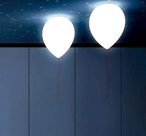 Wandlamp, eenvoudig, modern, creatief, kinderen, jongens, meisjes, kinderen, werkkamer, slaapkamer, licht, wit, glas, ballen, plafond, lamp, 20 x 27 cm
