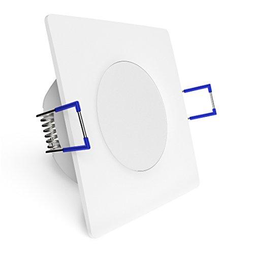 Preisvergleich Produktbild linovum WEEVO Einbauleuchte LED dimmbar für Innen & Außen - 6, 5W warmweiß - IP44 Deckenstrahler quadratisch Einbau 29mm flach