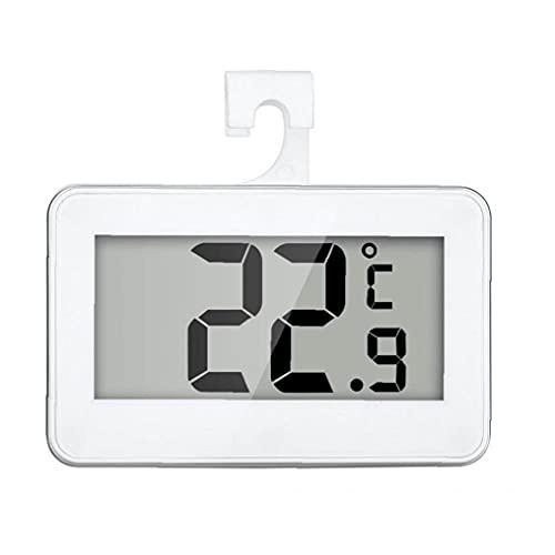 fregthf Frigorífico Termómetro Digital a Prueba De Agua De Temperatura Inalámbrico Nevera Congelador De -20 a 60 Grados Grande del LCD Display