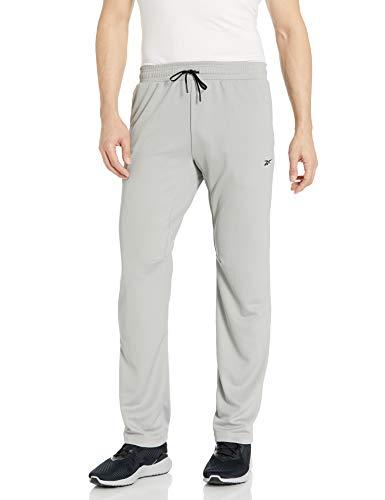 Reebok Workout Ready Knit Pant Pantaloni, Grigio, M Uomo