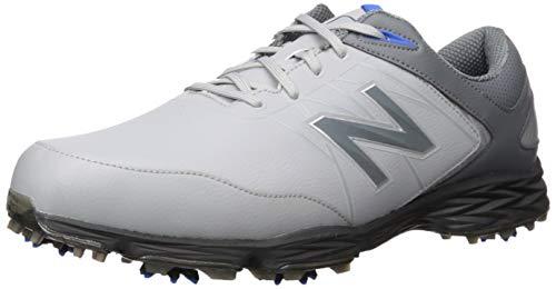 New Balance Men's Striker Waterproof Spiked Comfort Golf Shoe, Grey/Blue, 10.5 D D US