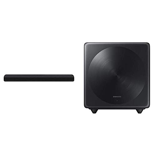SAMSUNG HW-S60T 4.0ch All-in-One Soundbar with Alexa Built-in (2020) and SAMSUNG SWA-W500 Wireless Subwoofer - 10' (SWA-W500/ZA, 2020)