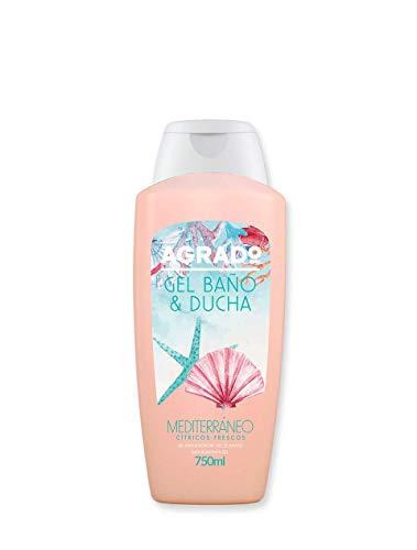 Gel de baño y ducha hidratante PH Neutro Gel de baño Mediterráneo Aroma Cítrico 750 ml Geles del Mundo AGRADO