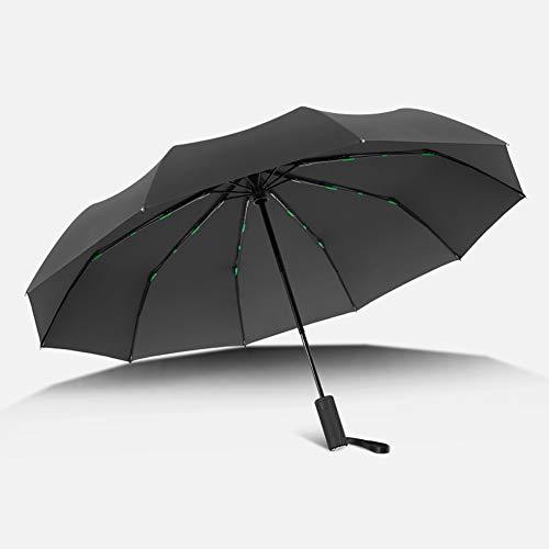 Umbrella Paraguas Plegable Grande A Prueba De Viento, Apertura Y Cierre Automático,...