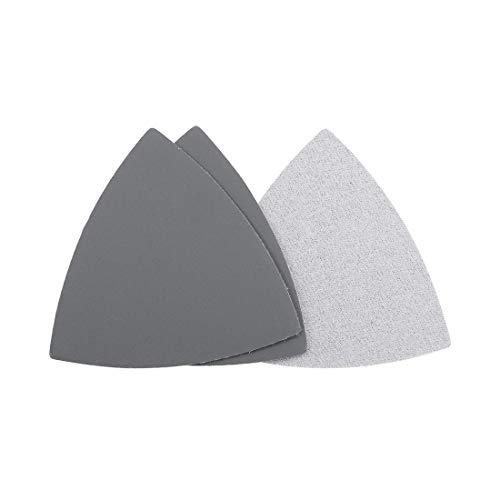 Lijadora de detalles triangulares con gancho y bucle de papel de lija de 3-1/2 pulgadas, almohadilla de lijado de carburo de silicio, grano 2500, 3 piezas