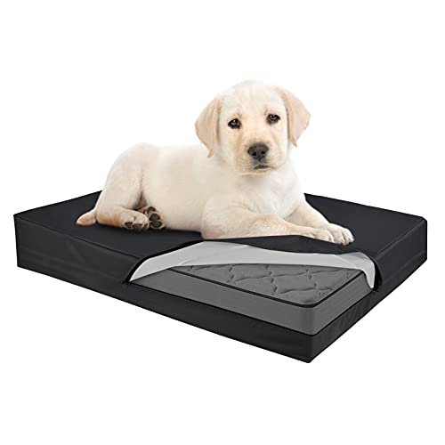 """SELUGOVE Waterproof Dog Bed Liner Black Thicken (44"""" L x 32"""" W x 4"""" H) Dog Bed Covers"""