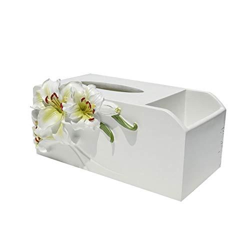 NYKK Caja Pañuelos Caja de pañuelos Creativa Europea Bandeja de Control Remoto Almacenamiento de múltiples Funciones Sala de Estar Mesa de Centro Bandeja para el hogar Dispensador Pañuelos
