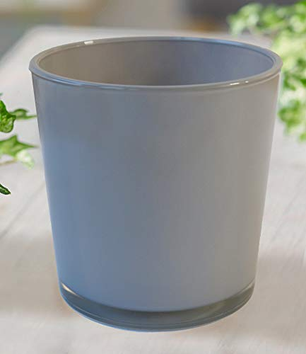 BALDUR-Garten GmbH Glas-Übertopf ø 19 cm grau,1 Stück