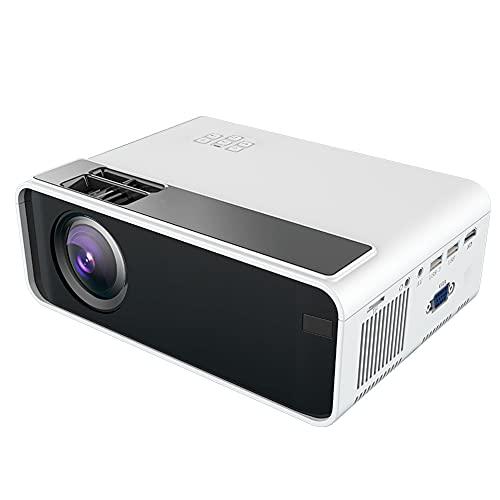 Goshyda Mini proyector de Video, 720P 1080P LED Proyector Inteligente de Cine en casa, Proyector Multimedia HD portátil para Entretenimiento en el hogar, Película Anime Juego TV Drama(EU)