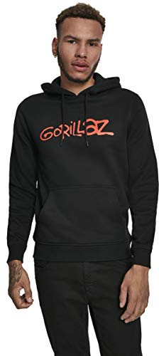 MERCHCODE Herren Gorillaz Logo Hoody Kapuzenpullover, Black, L