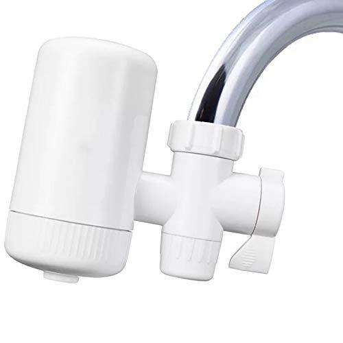 Cobeky Filtro de agua para grifo con carbón activado, sistema de filtración de grifo de agua elimina plomo y cloro, purificador de agua de alto flujo de agua para el hogar, cocina, baño