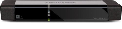 Technisat TechniBox S1+ digitaler HDTV Satellitenreceiver (HDMI, DVRready, CI+, UPnP, USB, inkl. HD+ Karte) schwarz