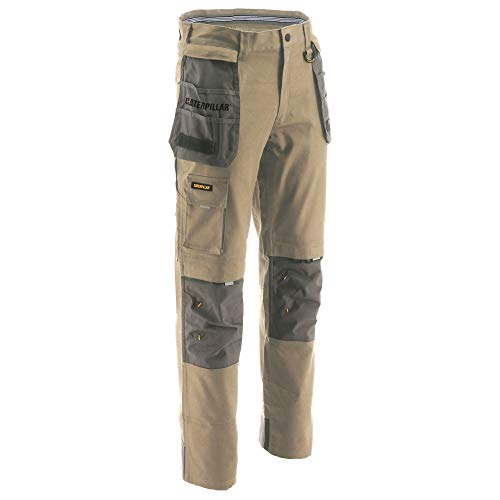 Caterpillar Men's H2O Defender Trouser Pants, Dark Sand-Graphite, 34/30