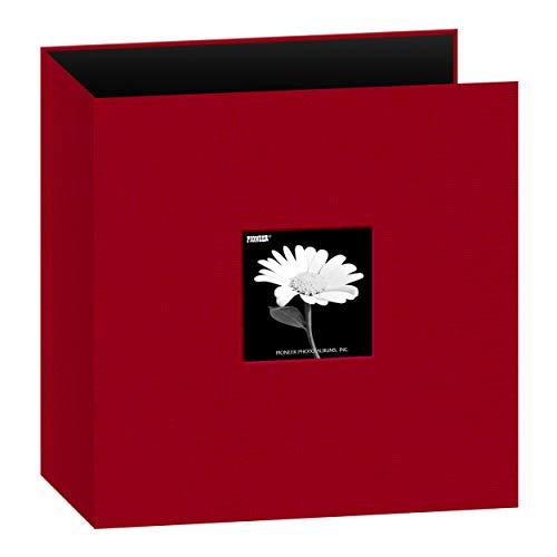 Pioneer Photo Albums 8.5x11 Fabric Frame 3-Ring Binder Scrapbook, Apple Red