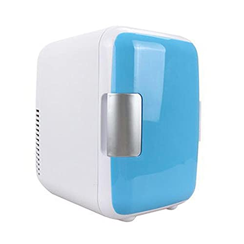 RURUZI Refrigerador de coche eléctrico caliente de 4 litros para calefacción y refrigeración de doble uso, multifuncional portátil para el hogar, refrigerador de coche mini (nombre del color: azul)