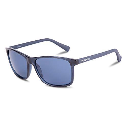 Calvin Klein Ck19568s - anteojos de sol redondas para mujer, azul marino (Crystal Navy), 58mm,15mm,140mm