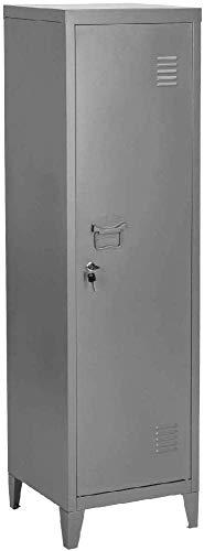 MEUBLE COSY Rangement Bureau Metal Gris 38 X 38 X 137Cm
