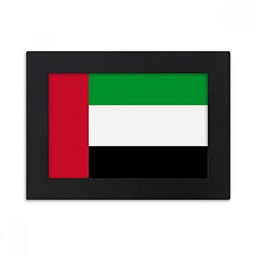 DIYthinker Vereinigte Arabische Emirate National Flagge Asien Land Desktop-Foto-Rahmen-Schwarz Bild-Kunst-Malerei Passt 10.2 x 15.2cm (4 x 6 Zoll) Bild Mehrfarbig