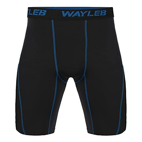 Wayleb Leggings Mallas Running Hombre Pantalones Cortos de Compresión Pantalon Corto Deportivo Hombre Verano Pantalón Corto Chandal de Deporte Secado Rápido Elástico